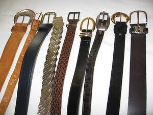 plusieurs ceintures !