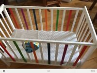 Baby cot with Mattress (£15)
