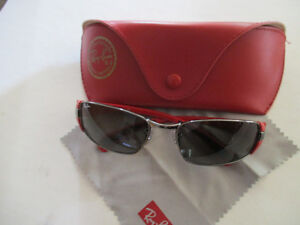 Ray-Ban sunglasses RED with case and lens clener