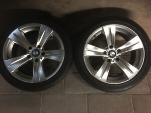 BMW Style 189 factory rims and centrecaps with tires