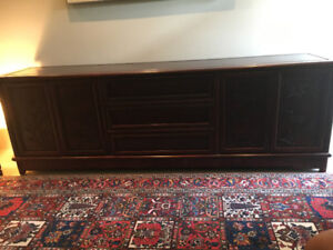 Asian Solid Rosewood Credenza Buffet Dresser