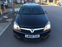 2009 Vauxhall Astra Manual Petrol 1.4 i 16v SXi Sport 3dr Hatch Black Panoramic Roof