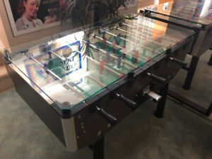 Fabi Coin-op Foosball table with glass top