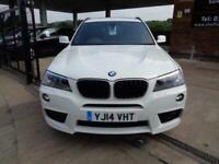 2014 14 BMW X3 2.0 XDRIVE20D M SPORT 5D 181 BHP 4X4 AWD 4WD DIESEL