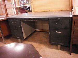 Mid-Century Modern Industrial Metal Desk - Goderich ReStore