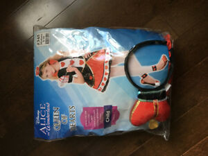 Queen of Hearts Costume Size 10 Girls
