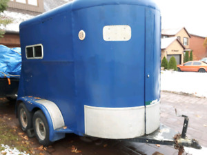 Horse Trailer Loaded with Tools and Equipment