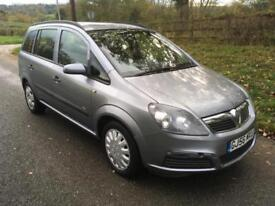 Vauxhall/Opel Zafira 1.6i 16v ( a/c ) Life 12 MONTHS MOT + LOW MILEAGE