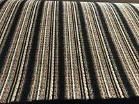 9 ft by 13 ft brand new black stripy carpet remnant felt back