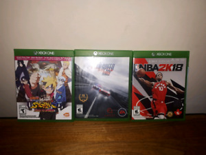 NARUTO 4 / NBA 2K18 / Need for speed rivals (XBOX ONE)