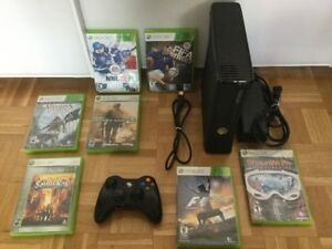 Console X Box 360 + jeux Call of Duty, F1, Ass Creed...100$