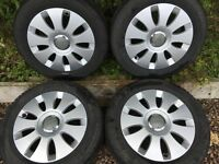 4x Audi 6.5J X 15, Alloy Wheels, Volkswagen, Seat, Skoda, VAG