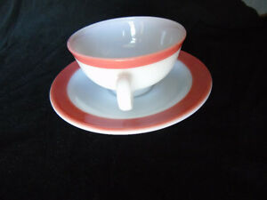 Pyrex Tea Cup/Saucer Pink Flamingo Vintage Peterborough Peterborough Area image 2