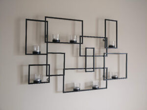 Decorative wall mounted candles