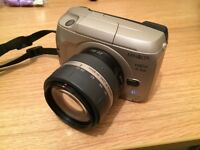 Minolta Vectis S-100 SLR film camera 22-80 lens good condition
