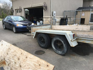 Heavy duty trailer with brakes