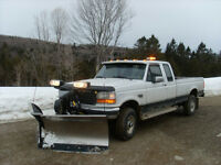 1997 Ford F-250 Pickup Truck w/ Stainless Fisher V-plow & sander