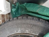 """15"""" Goodyear Nordic winter tires on Rims for sale(4pcs)"""
