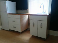 IKEA Varde freestanding kitchen units w/ sink and stovetop