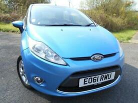 2011 61 FORD FIESTA 1.4 ZETEC 16V 5D AUTO 96 BHP ** ONLY 55K WITH 1 PREVIOUS OWN