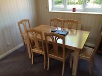 Sideboard and Dining table with 6 chairs