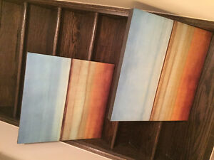Horizon canvas x 2 (each one slightly different)