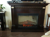 BEAUTIFUL EXPRESSO ELECTRIC FIREPLACE
