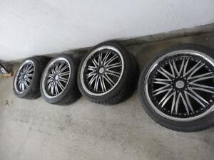 mags 18'' 5x114.3 avec pneus 225/40/18