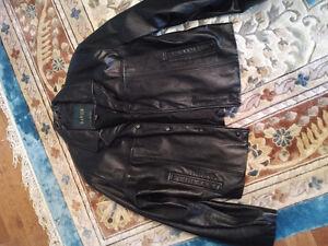 Black leather jacket - Danier