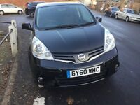A 2011 Nissan Note N-tec, black, 1.6, Automatic, petrol, 6 month Mot and low mileage