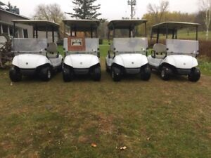 5-2010 Yamaha 48v electric golf carts for sale wt club covers