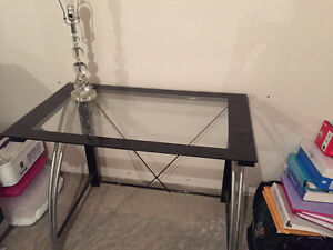 Glass top desk in perfect shape
