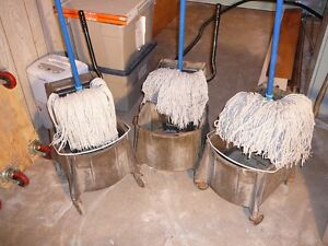 Commercial Pail,mop head, and handle