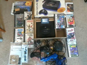 SEGA SATURN LOT! 10 GAMES LIGHT GUN 3 CONTROLLERS
