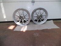 "Harley FLH Wheels 9 spokes Silver 16"" 2 Aluminum   Mags"