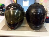 2 motorcycle helmets for sale