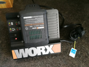 Worx 20 volt lithium ion battery and charger, new