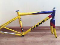 Vintage Giant TCR Team Small Racing Road Bike Frame Aluminium