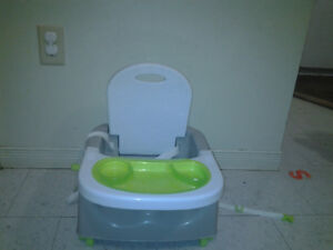 Baby bjohn potty seat and baby feeding seat with tray and harnes