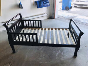 Toddler bed, fits standard crib mattress, good condition $50