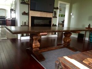 Rustic barnboard live edge custom tables cabinets benches doors Cambridge Kitchener Area image 5