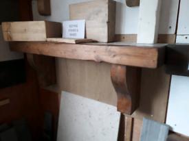 Wooden mantels