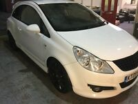 Vauxhall corsa design in white with gloss black alloys