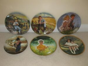 6 Assorted Children themed Collector Plates