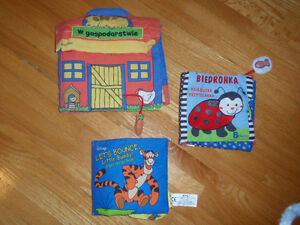 3 fabric books for babies