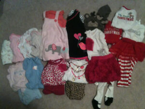 Size 9 month baby girl fall/winter clothing lot