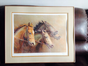 """""""The Thoroughbreds"""" by Fred Stone – Framed Very Rare"""