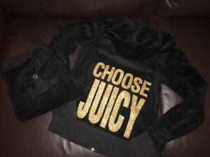 Juicy Couture Tracksuit (Black - Choose Juicy) - Small