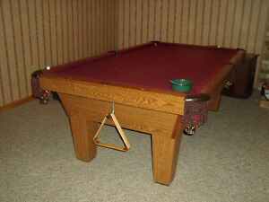 4x8 Slate Pool Table