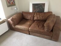Genuine soft leather sofa in 3 units for a variety of configurations